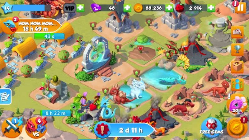 Dragon Mania Legends cheats and tips